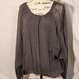 Piazza Roma Italian Silk Blouse Size Medium